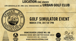 Golf Simulator Event on March 27th, 2017 at 7pm @ One Under Vancouver | Vancouver | British Columbia | Canada